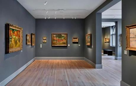 "Van Gogh's famous painting ""The Night Café'' (left) is among the holdings of European art. A room in the galleries of 19th- and 20th-century European art."